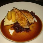 loin of pork with champ and caramelised apples