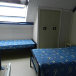 Vue de la mezzanine avec 3 lits
