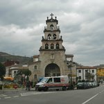 Church in center of Town of Cangas de Onis