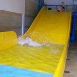 Indoor pool water slide