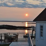 Sunset by the boathouse