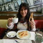 Churros & Cafe con Leche for breakfast at Nebraska Restaurant