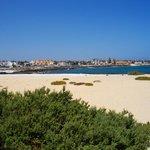 Quieter end of town beach