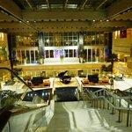 escalators to get down to reception
