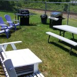BBQ/Gas Grill area