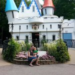 My son and I in front of Cinderellas castle.