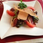 Salad with foie gras