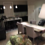 Kitchen and Dining area in the two bedroom apartment