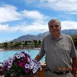 View at Sandia Resort swimming pool