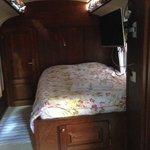 Caravan interior from door.
