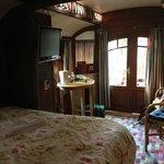 Caravan interior from bed.