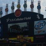 View of the scoreboard
