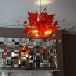 loved the funky chandelier in the sitting room