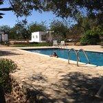 La piscina desde la hamaca