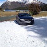 snow with the car