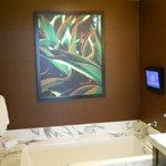 Jacuzzi tub & TV