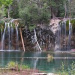 The hanging lake and waterfall