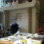 Saletta dove si fa colazione