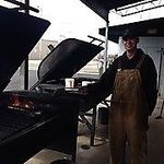cooking on the smokers outside
