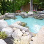 hot salt water pool.