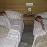 cupboard style twin bedroom