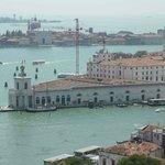 La punta después de La Salute desde el campanario de San Marco