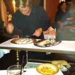 Striper filet at our table at restaurant antipasta oc md