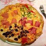 Ma pizza ( la qualité de la pâte n'est pas terrible )