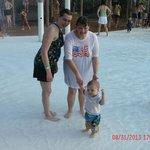 Grandma,daughter & grandson at Hurricane Harbor