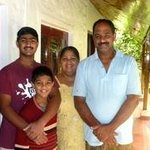 Tomy with his family