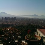 View to Vesuvius and the city centre