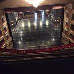 El escenario desde lo más alto de las gradas