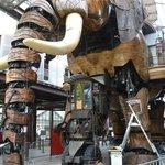 The magical mystery mechanical elephant, having some tender loving maintenance!
