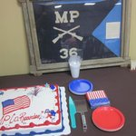 The cake of the 36th WWII Military Police