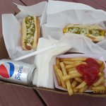 Twin hot dog special $5.75