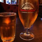 Cider @ 1.75£ for 1/2 pint & beer @ approx 4.25£ for the pint