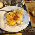 Die Hauptspeise: typische Sardische Gnocci gefüllt mir Kartoffelpüree