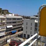 View from top-floor room looking towards sea.