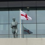 Bobby Moore, World Cup winning captain, watches over Wembley