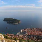 Looking down onto Old City of Dubrovnik