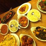 That's the indian way to eat! Great taste, huge variety! I am so pleased .... like a rainbow f