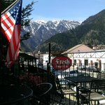 Breathtaking view from the deck - Fresh Burger. Leavenworth, WA April 2014