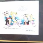 A personalized Blondie cartoon from Dean Young to the Cafe's owners