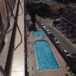 Main pool from roof