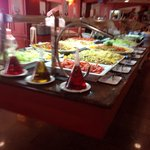 Salads and cold meat selection