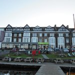 Ambleside Youth Hostel from the jetty.