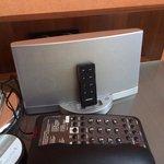 Bose system on bedside table
