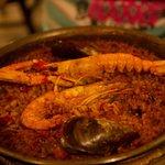 Paella mit Meeresfrüchte