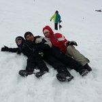 en el cerro catedral de bariloche con mi familia