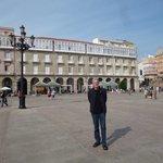 Another corner of the monumental Plaza de María Pita in La Coruña